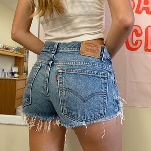 Vintage Distressed Levi's Jean Shorts